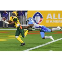 Arizona Hotshots receiver Rashad Ross catches a touchdown pass against the Salt Lake Stallions