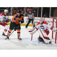 Lehigh Valley Phantoms center Mike Vecchione vs. the Charlotte Checkers